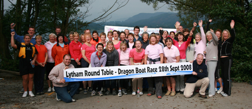 Sunday practice for the Lytham dragon boat festival Round Table fundraiser.
