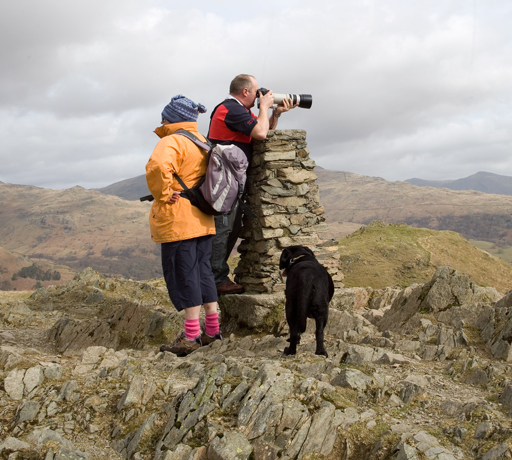 Winter fitness walk to Loughrigg Fell