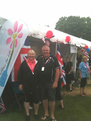 """Paddlers for Life """"flying the flag"""" boldly at a great event."""