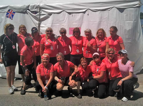 Paddlers for Life team at the Peterborough, Ontario, International Dragon Boat Festival. 2010.