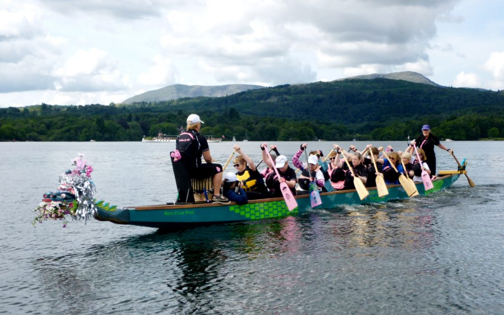 Paddlers took Mary out today for a lovely warm paddle up to Ambleside.