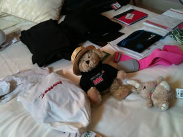 Paddling Bear is just about ready to be off to Canada. Most things are ready, the suitcase is found.