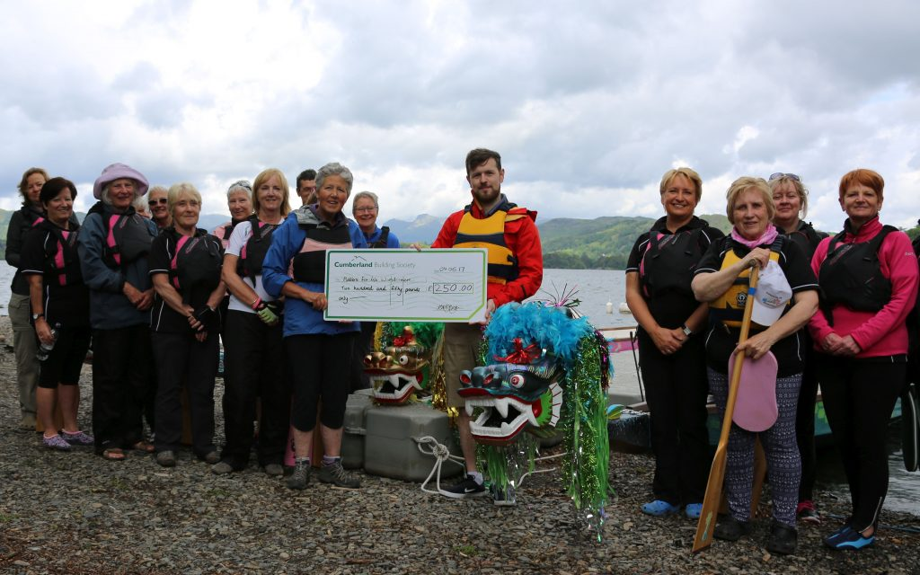 Cumberland Building Society present a cheque to support the Tenth Anniversary film project.