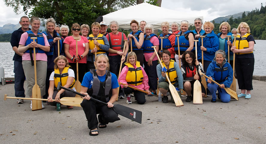Keni coaches paddlers from the team. She paddles with the Three River Serpents team in Durham.