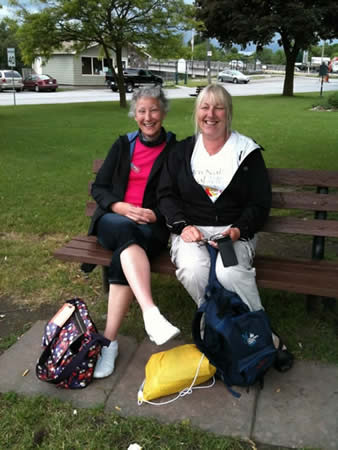 """""""The girls lounging in Lakefield trying to get Wi-Fi! Absent friends are always in our thoughts."""