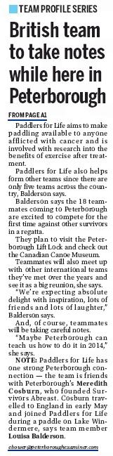 Peterborough Examiner article.