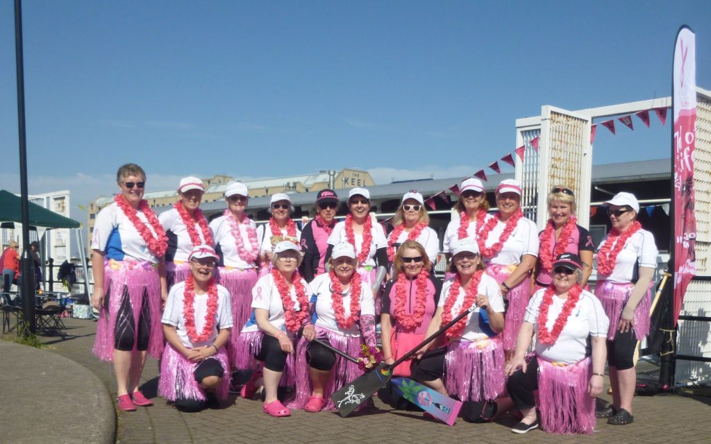 We dressed Aloha Aloha in memory of Sue. Our first race was dedicated to her.