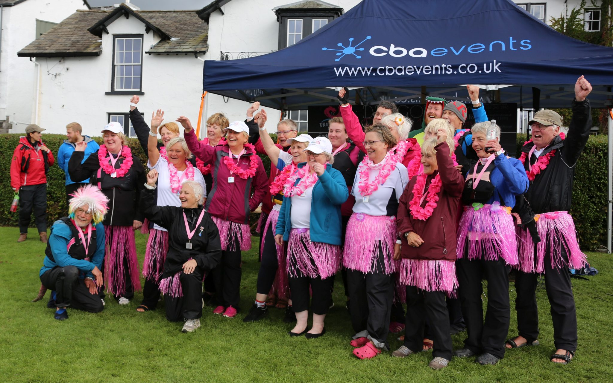 Paddlers for Life win the 'Best Dressed Team' award.