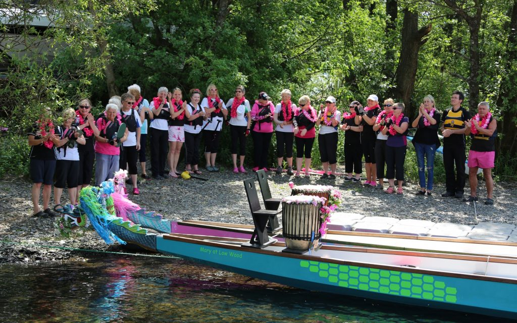 Members of Paddlers for Life gather to remember a much loved member of the team.