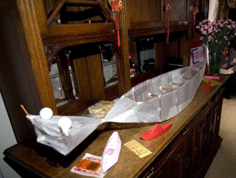 Large paper dragon boat