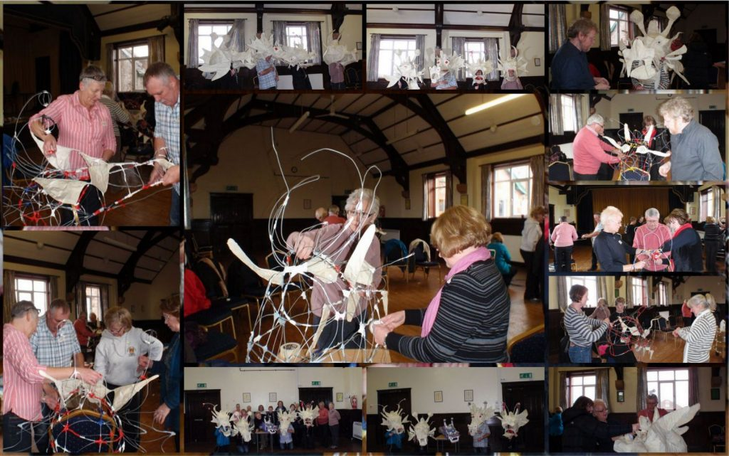 Dragon Head making session, a workshop from 2012.