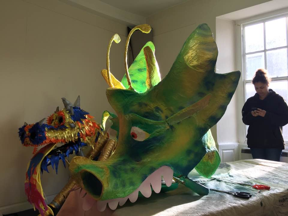 The previously unpainted head has a new lease of life. Ready for the May Day parade.