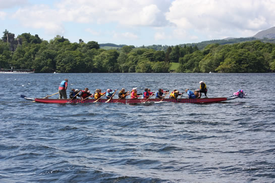 A coaching session on a windy Windermere.