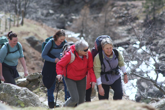 Aly was the leader of a beautiful walk in wonderful weather in Great Langdale in March.