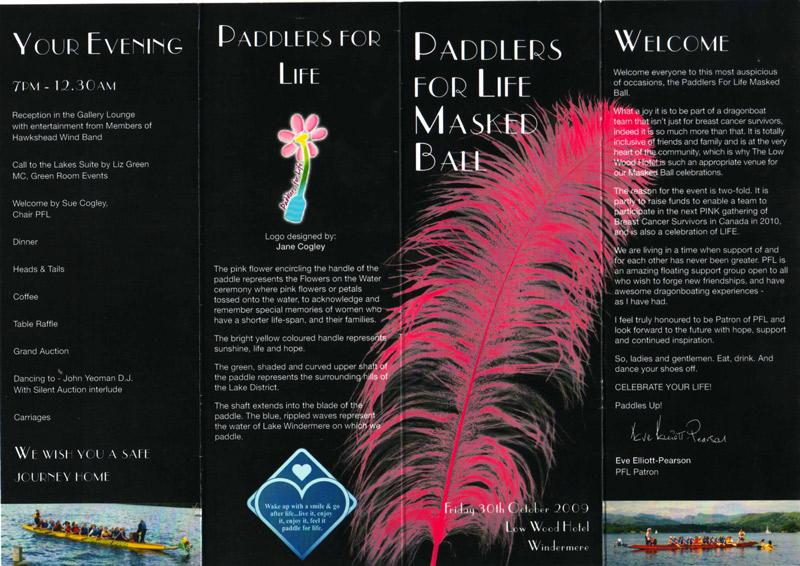 Masked Ball leaflet