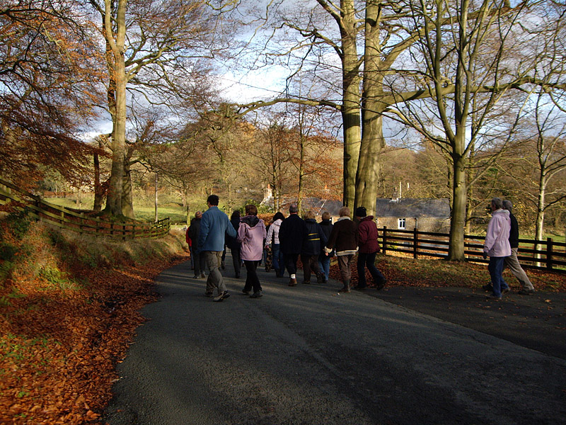 And after the buffet - a healthy walk, conducted by Harry and Elaine Balderson around their beautiful village of Abbeystead.