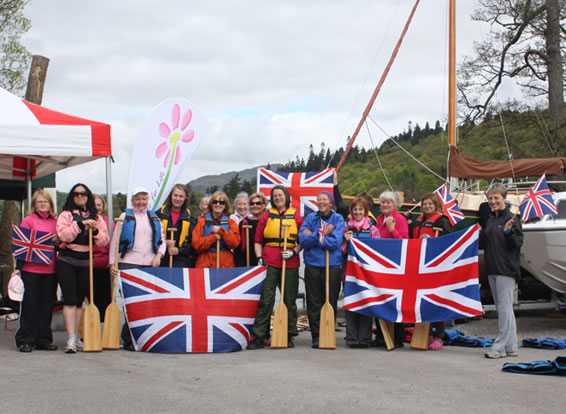 The flags will be flying, the excitement will be tremendous, and WE'LL BE THERE, representing Low Wood, Cumbria, the UK.