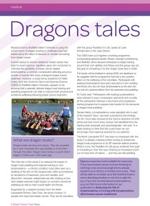 Breast Cancer Care newsletter article about Paddlers for Life.