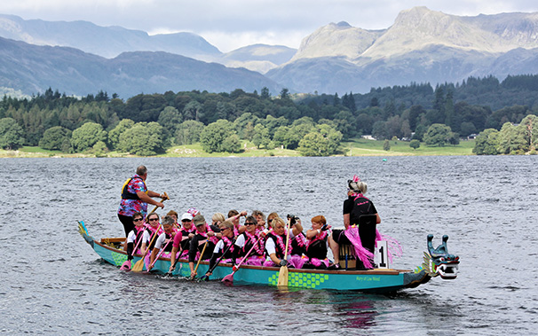 Paddlers for Life Windermere participate in the Third Dragon Bay Regatta.