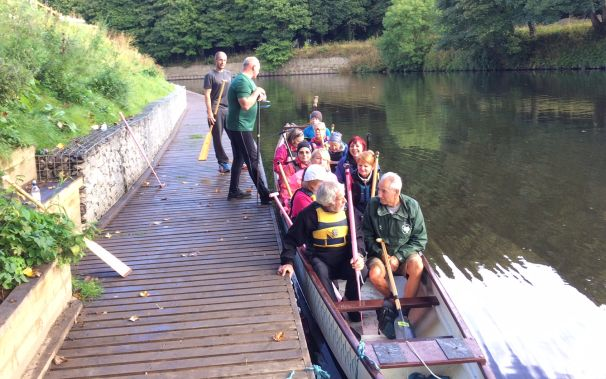 Paddlers for Life visited Three River Serpents in Durham for a joint training session.