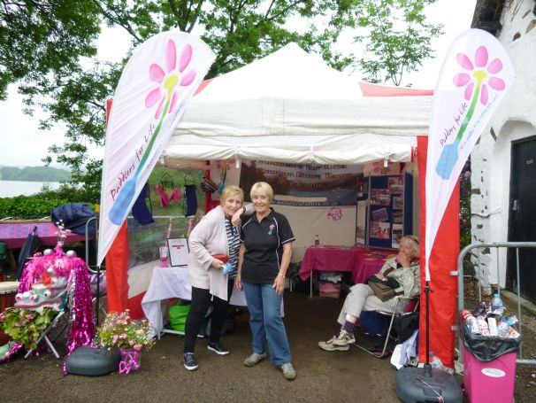 A huge thanks to Eunice, Irene and Maureen who spent Thursday and Friday setting up our event tent.