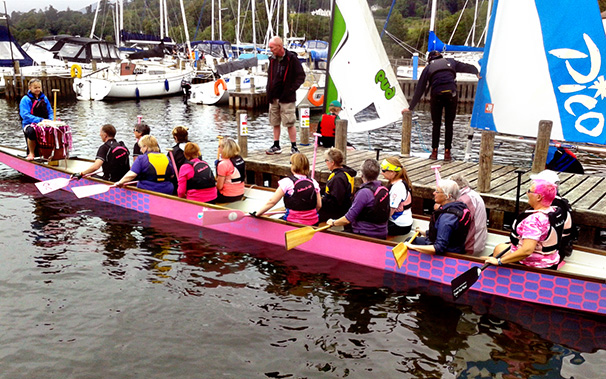 Keni coached a crew who are preparing to participate in the Dragon Bay regatta.
