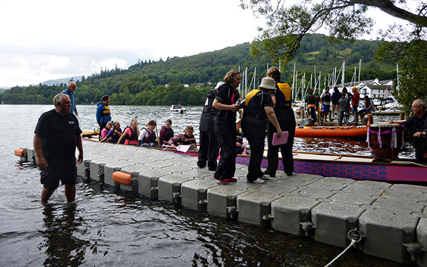 New pontoon helps access to the dragon boats.