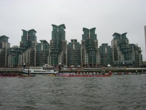 Jubilee pageant flotilla on the River Thames.