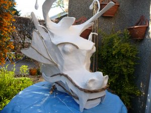 Further progress on the 'Lancaster' dragon head.