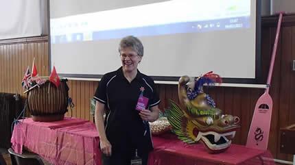 Barbara arranged the presentation.