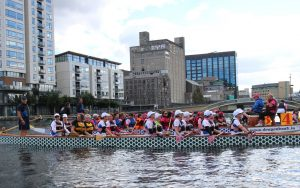 Paddlers for Life at the Dublin Regatta hosted by Plurabelle Paddlers.