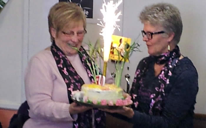 We took the opportunity to wish Eunice our good wishes on a special birthday.