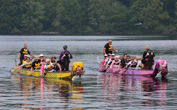 "After the ceremony our two dragon boats raced towards the shore and beat the water with their paddles calling ""Awaken, Awaken, Awaken!"