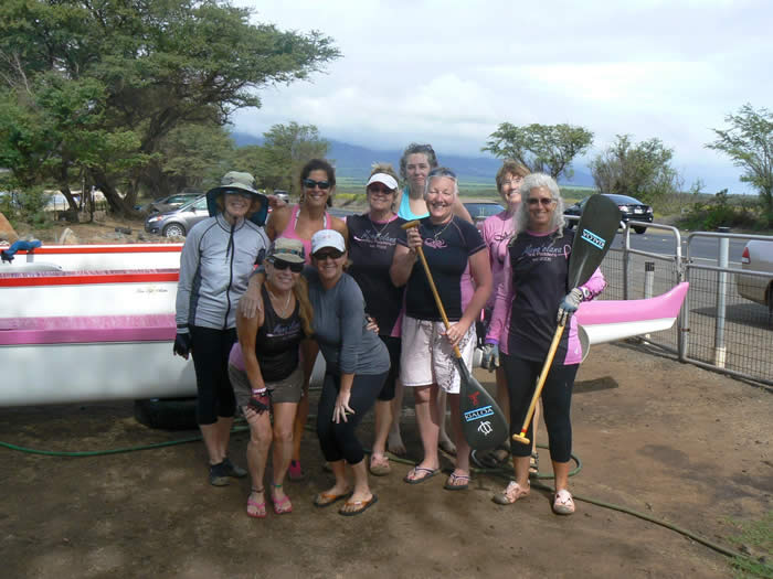 Hawaiian Trip to some more breast cancer survivor paddlers.