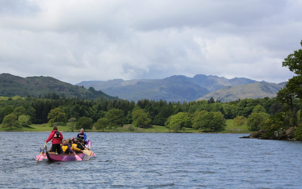 What great views paddling on Windermere.