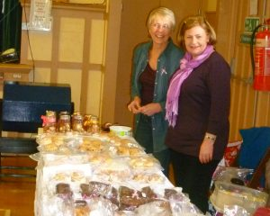 June and Sylvia on the cake stall.