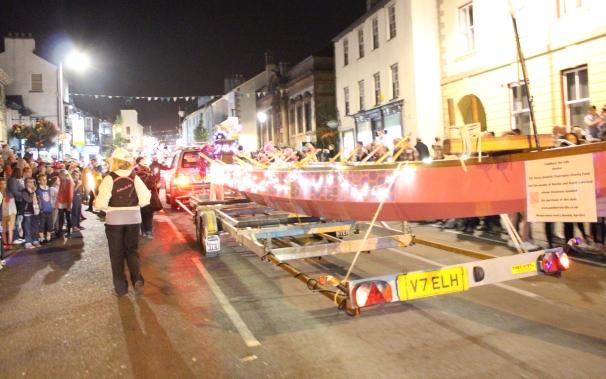 Kendal Torchlight procession preparations.