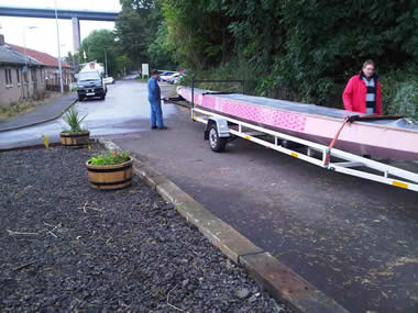 Paddlers for Life Scotland SE have taken delivery of their new dragon boat.