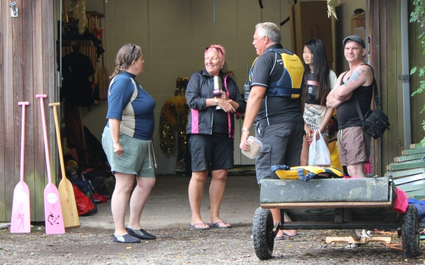 Visitors train for an event at Preston Dock.