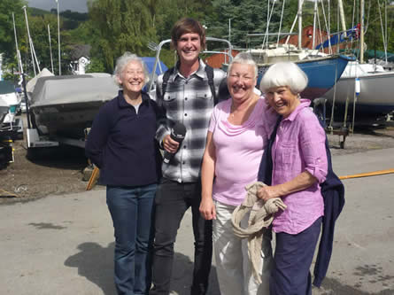 Louisa, Sue and Jenny were all interviewed about breast cancer dragon boat paddling.
