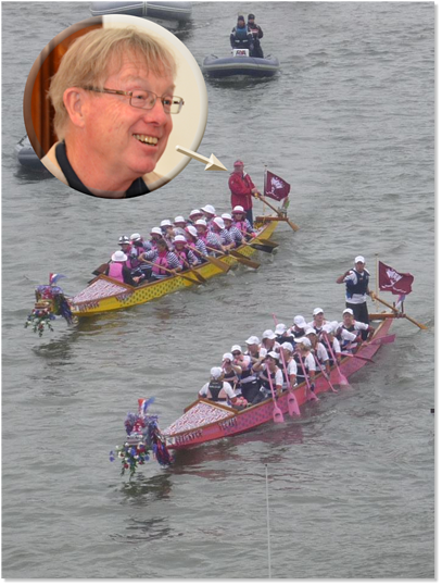 Dr. Don McKenzie emails after helming one of our dragon boats in the pageant..