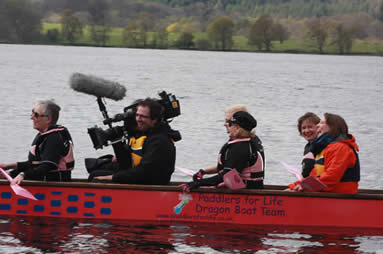 Filming by the BBC for Jubilee Flotilla Pageant coverage.