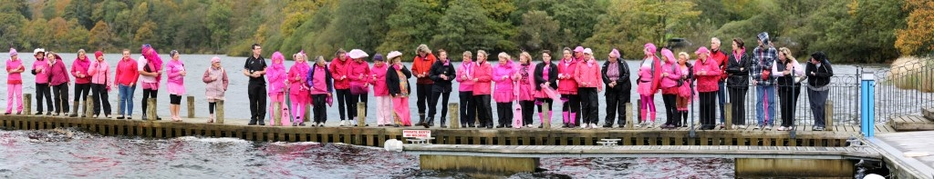 Paddlers held a 'Flowers on the water' ceremony remembering those no longer able to paddle with us.