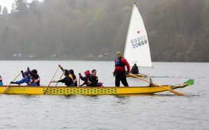 Paddlers from Manchester Dragoneers and Port edgar Dragons also trained as helms.