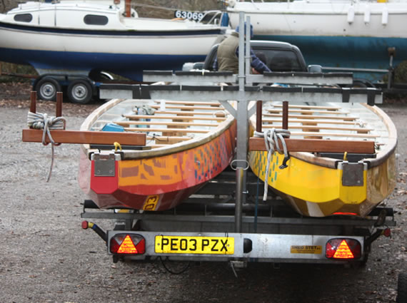 A new trailer for Paddlers for Life Windermere can take up to 4 dragon boats.