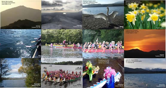 montage of postcards with haiku poems produced in conjunction with Matt's Ph.D research.