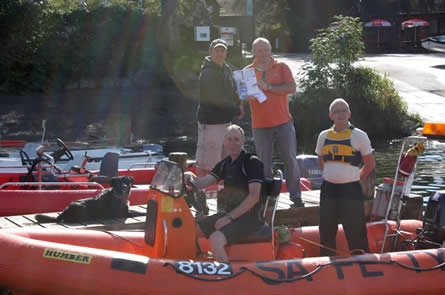 Several Paddlers for Life members now have Level 2 Power Boat training as well as the three members who now have Safety Boat qualifications.