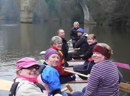 Ready to paddle with the Serpees in Durham.
