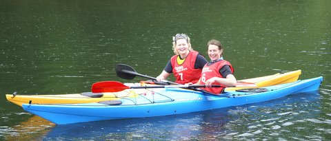 Two Paddlers for Life members found there own method of transport.