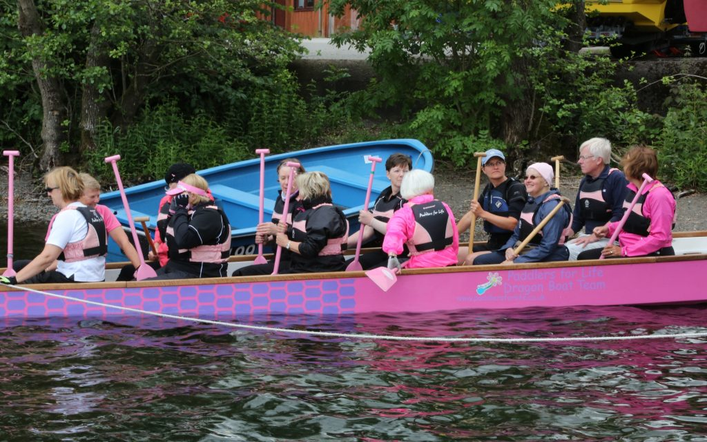 A day for visitors to try dragon boat paddling.